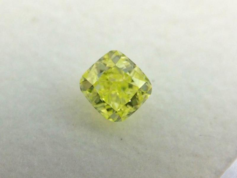 Natural Fancy Intense Yellow Green Diamond