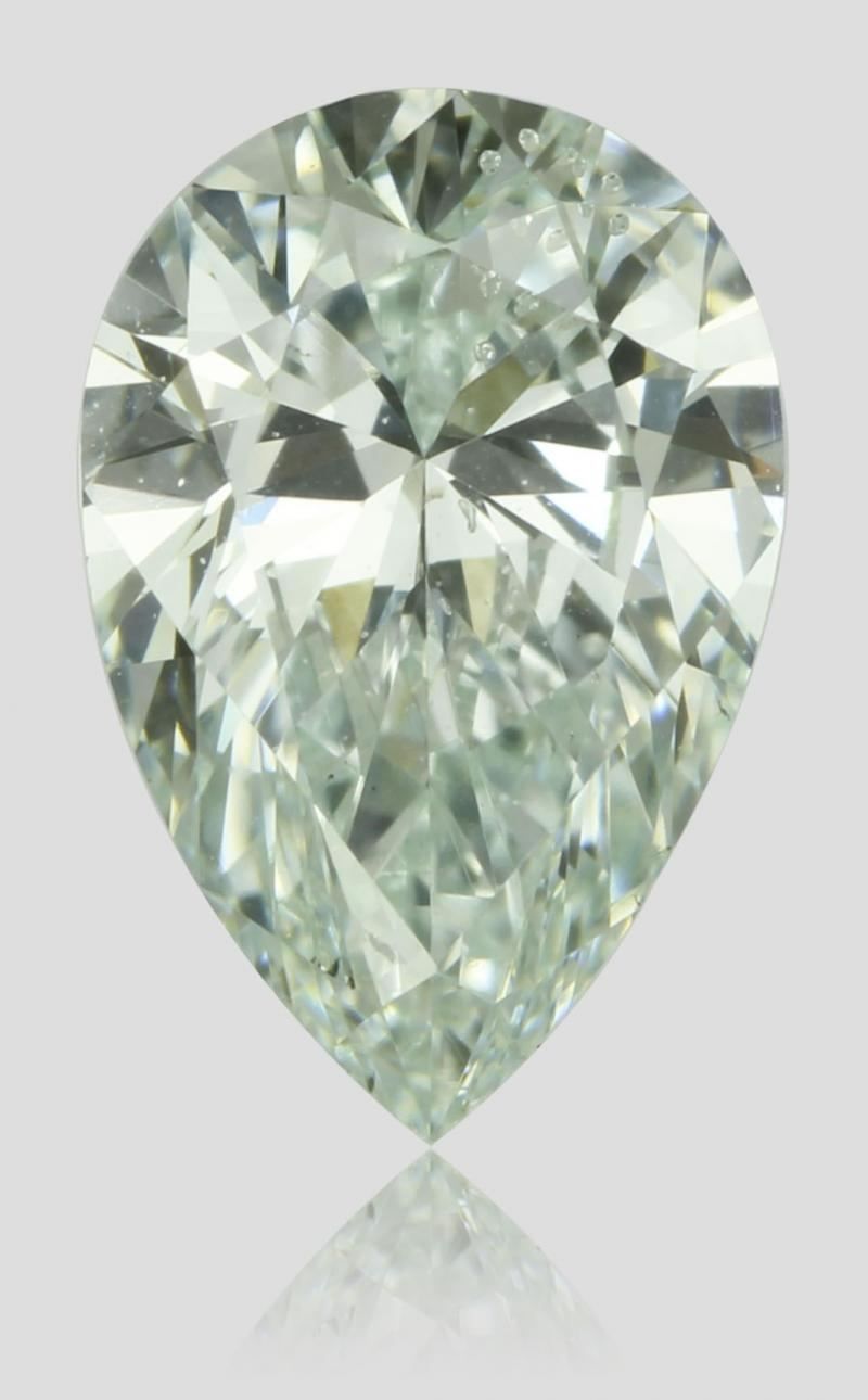 0,50ct natural fancy bluish green diamond. pear shape.