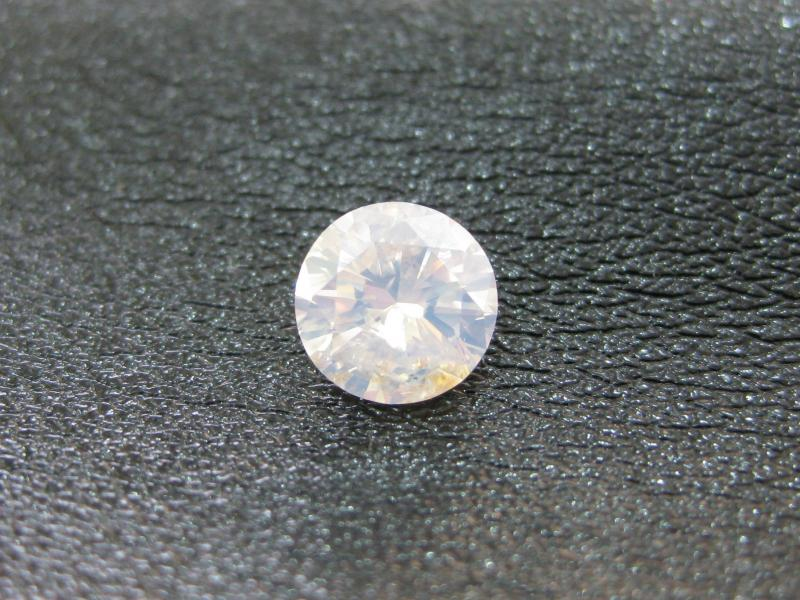 1.05carat fancy white diamond round cut