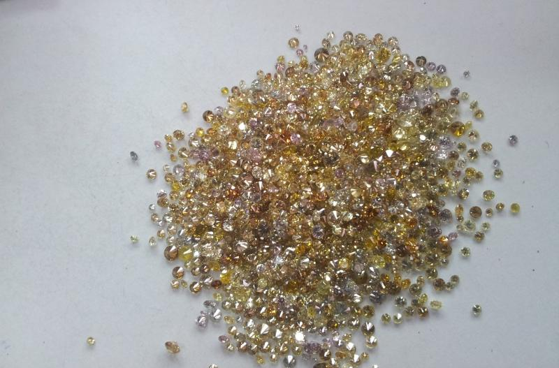 natural fancy mix color dimond parcel india
