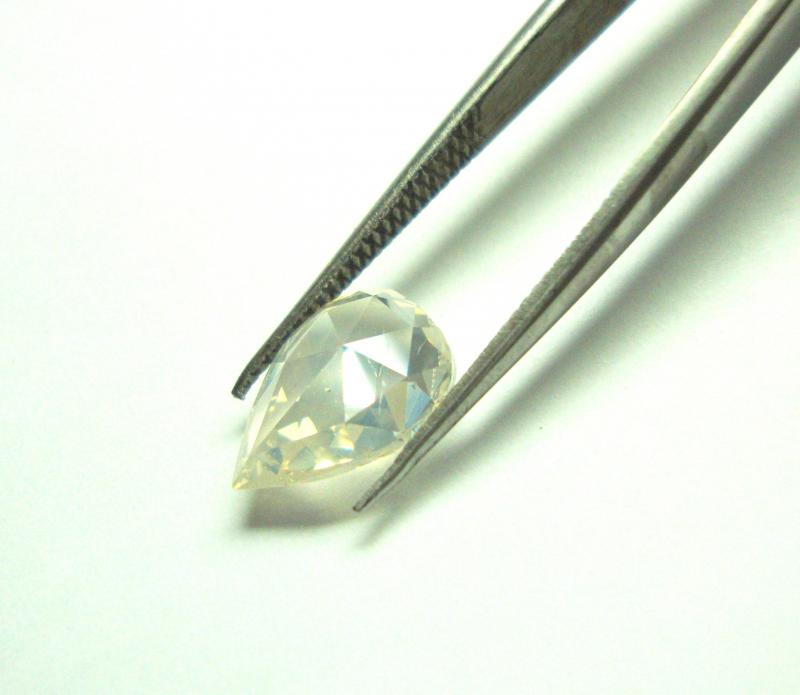 ROSE CUT DIAMOND PEAR SHAPE