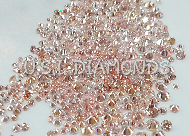 Natural Australian Fancy Rose Pink Diamonds