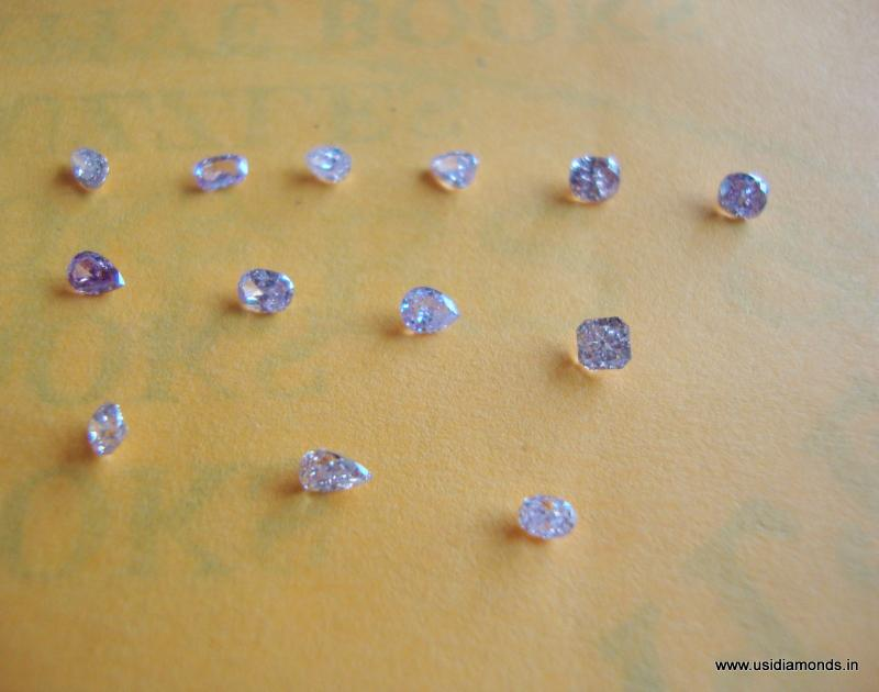 Indian pink diamond natural