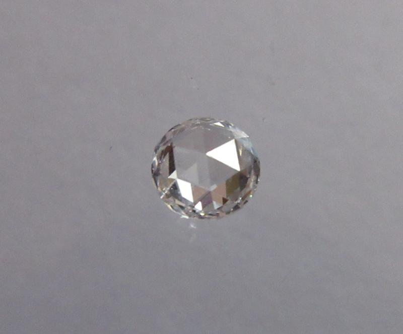 White rose cut diamond