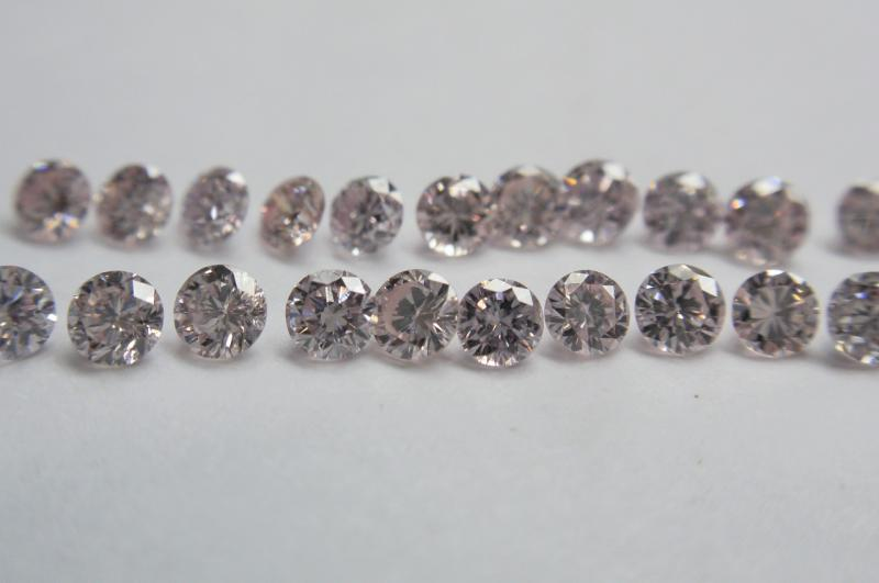 Faint Pink Diamonds