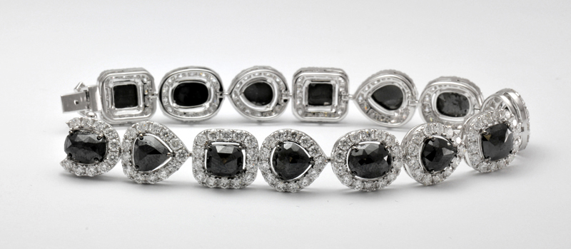Black Diamond & White Diamond Bracelet