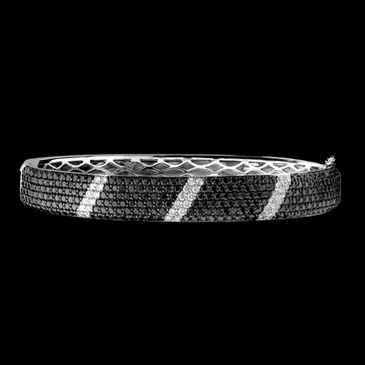 Black And White Diamond Bangle