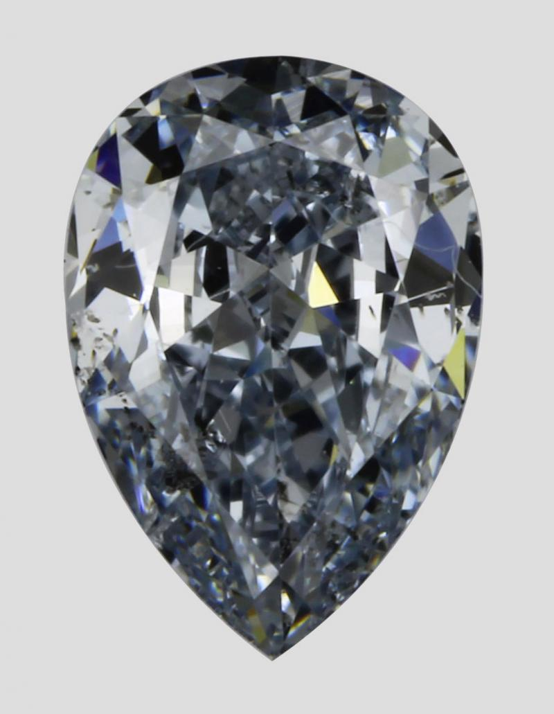 Natural Fancy Blue Diamond 0.43 carat Pear Shape