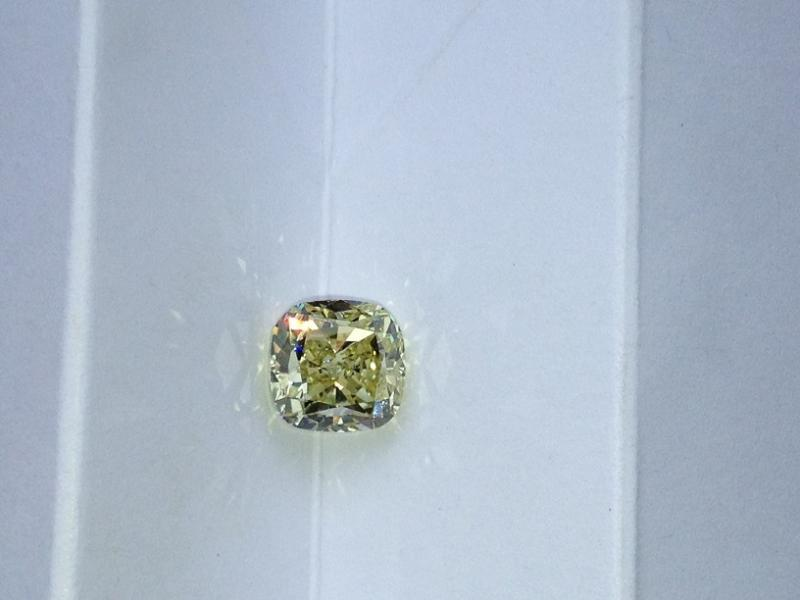 3.01ct, natural fancy yellow diamond