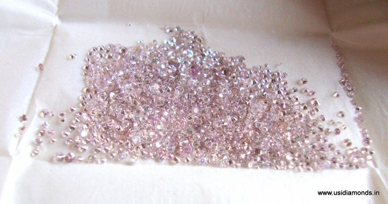 natural pink diamond parcel