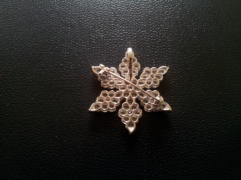 Diamond Brooch Back Side Image