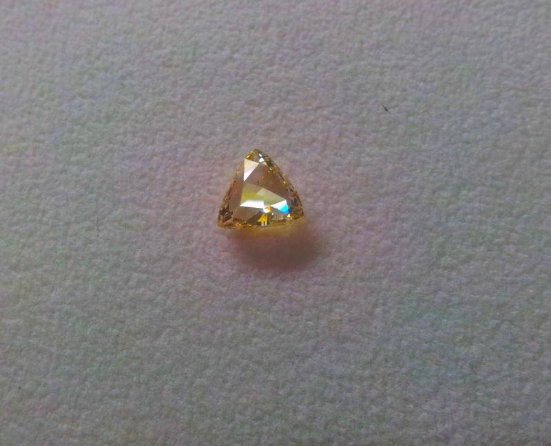 trillion diamond fancy yellow