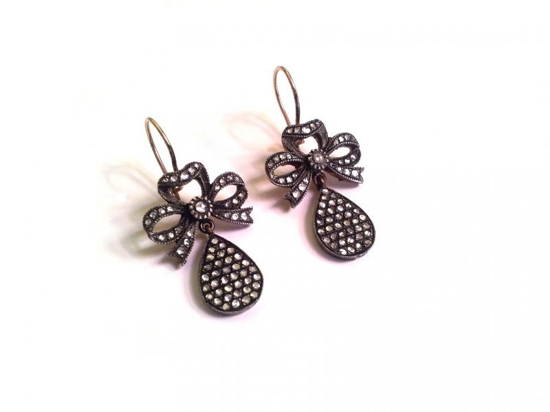 ROSE CUT DIAMOND EARRING